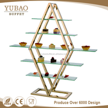 Restaurant Buffet Catering materials and equipments gold cake catering display stands in INDIA
