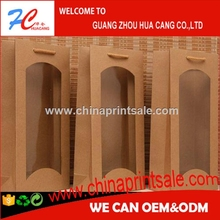 Guangzhou HC popular brown and kraft paper cement bag with clear window