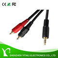 Gold Plated DC-AUX to 2RCA Cable