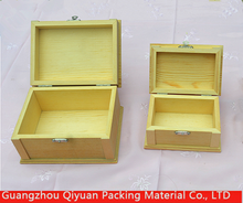 China suppliers handmade small craft unfinished wooden boxes wholesale