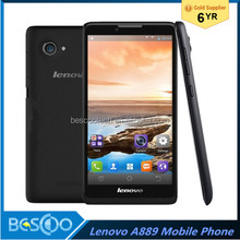 New Lenovo A889 Smartphone 6Inch MTK6582 Quad Core Cell Phone 1.3GHz Android 4.2 Phone 8.0MP Camera WCDMA GPS smartphone