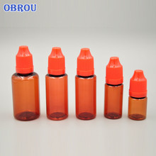 2018 China supplier hot selling 30ml Amber PET plastic bottles 10ml dark brown pet dropper bottle