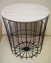 Wire mesh decorative round basket,wire base wire side coffee table