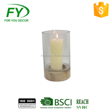 CH-31860 Popular Fashion Hot Selling Round Glass Candle Holder For Decoration