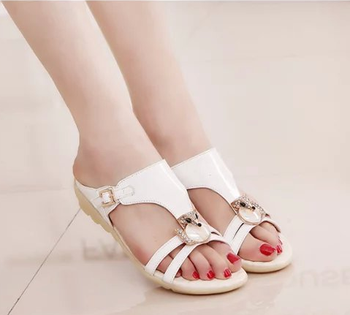 summer pu slipper ladies sandals