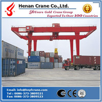RMG lifting container crane 40t 45t 50t ,rail mounted container gantry crane with cantilever