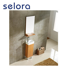 modern imported free standing deep base solid wood bathroom vanity cabinet from china