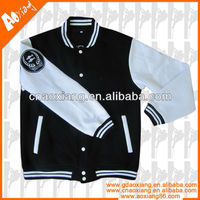Winter Embroidered Cotton Wool Varsity Jacket for Men