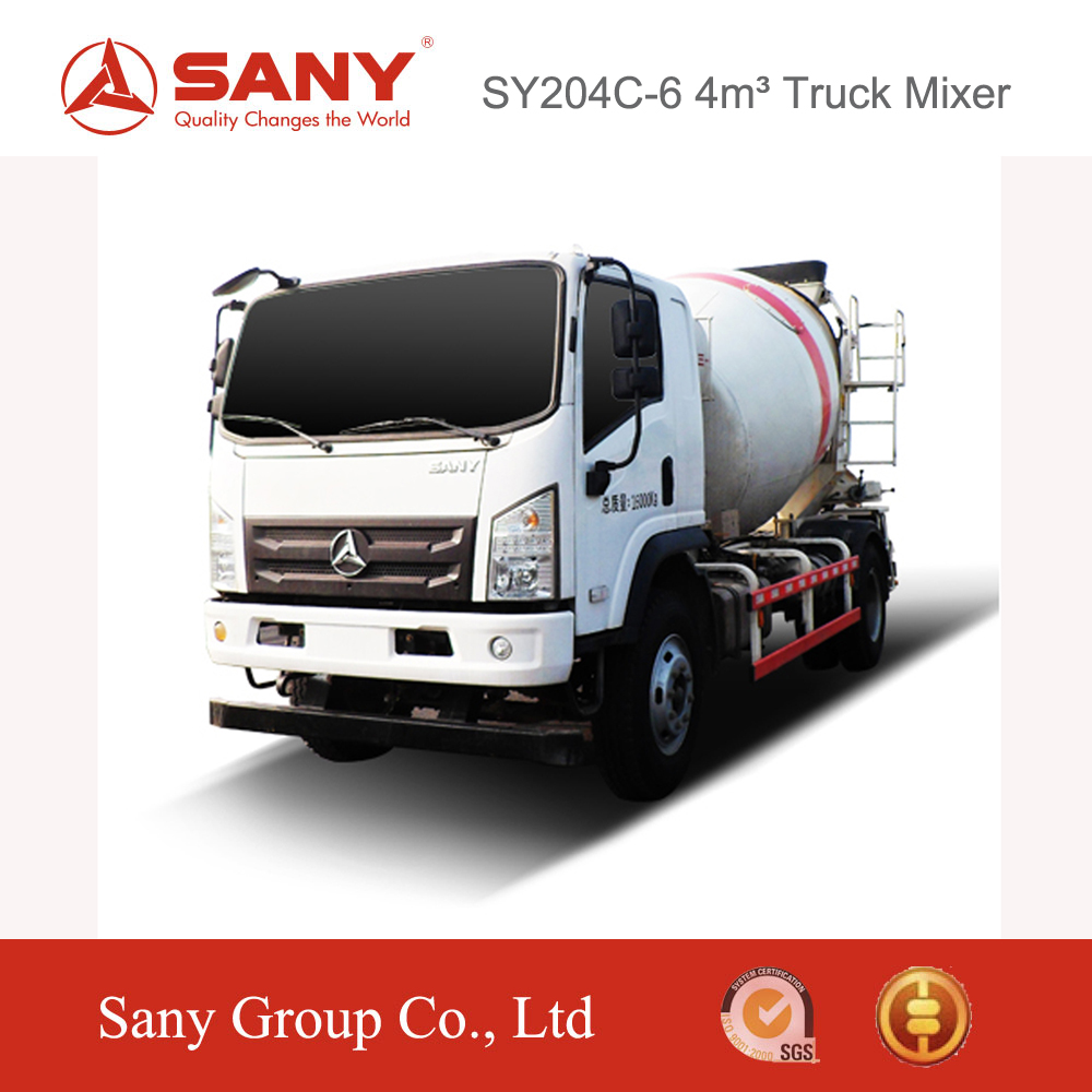 SANY SY204C6 4m3 concrete mixer truck weight Improved Braking Technology of Concrete Mixer in Dubai