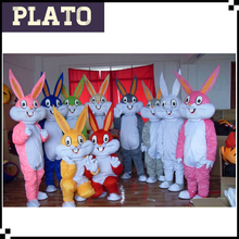 Fancy dress large size Easter bunny mascot costume for adults