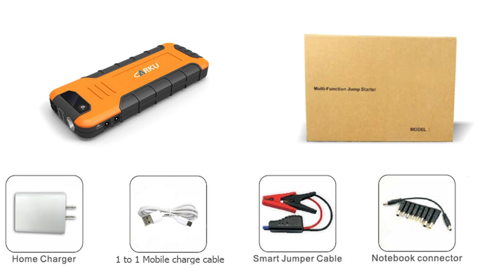 18000mha car jump starter carku new model QC2.0 quick charger multi-function vehicle power bank
