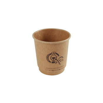 4oz double wall paper cup Disposable takeaway hot coffee paper cups with pe coated