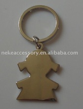 2011 Hot Sell Fashion Customized Girl Shape Metal Keychain