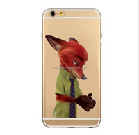 2016 new animation cartoon transparent tpu zoo phone case for iphone SE/6/6s/6 plus