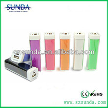 2014 mobile phone accessory Sunda PB-2600F mini power bank for laptop