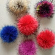 China Girl Women Sex Bag Bug Ningbo Mink Detachable Faux Raccoon Fur Pom