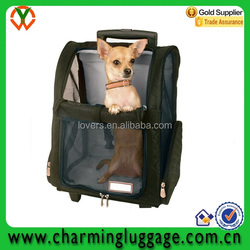 wholesale pet carrier bag with trolley