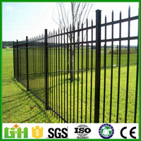 GM lowes powder coated 2016 hot sale garden wrought iron cheap yard fencing
