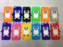 Smart penguin silicon case cover for ipod touch 5