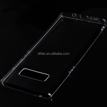 DFIFAN 2017 new products for samsung note 8 phone case,clear transparent phone cover case for samsung note 8