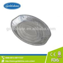 Goldshine Super quality design heavy duty oval roasting foil tray