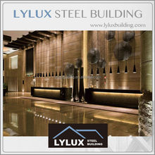 Prefabricated steel structure 3,4,5 star luxury hotel