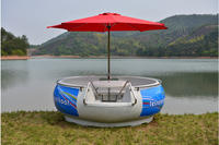 Best Selling Leisure Electric BBQ Donut Boat for Water Park,Party