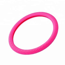 Colorful cheap factory silicone steering wheel cover for car truck