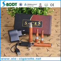 SBODY newest ego starter kits S-CE5 with wooden vaporizer pen battery RS2 and rebuildable atomizer D03 wholesale China