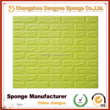 fashionable DIY Wall Stickers Wall Decor Embossed Brick Stone 3D PE Foam Wallpaper
