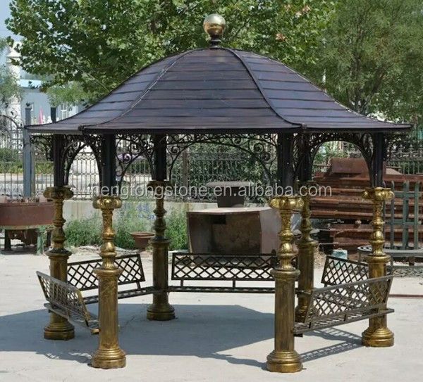 Antique metal Iron Gazebo For Garden Decoration