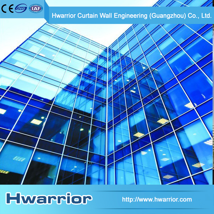 Hwarrior China Custom Size Insulated Glass Curtain Wall On Sale