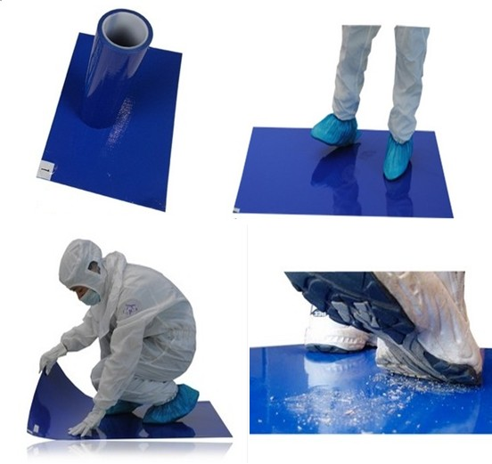 Manufacturer ESD Blue Disposable Sticky Door Mat for Cleanroom