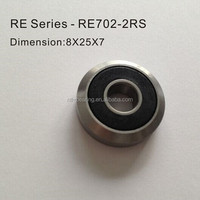 Guide roller bearing RE series RE702.2 RS/ZZ series 8*25*7mm