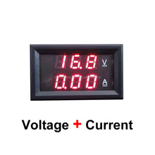 HOT!!! 0.28&quot; DC0-100V 0-10A Red + Red dual LED display voltage current <strong>meter</strong> voltage display for car MPPT Solar controller