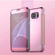 Wonderful mobile phone case mirro style semi clear view cover For Samsung S7 Edge