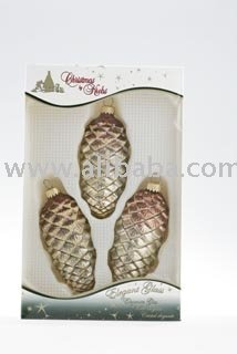 Glass pinecones for Christmas decoration
