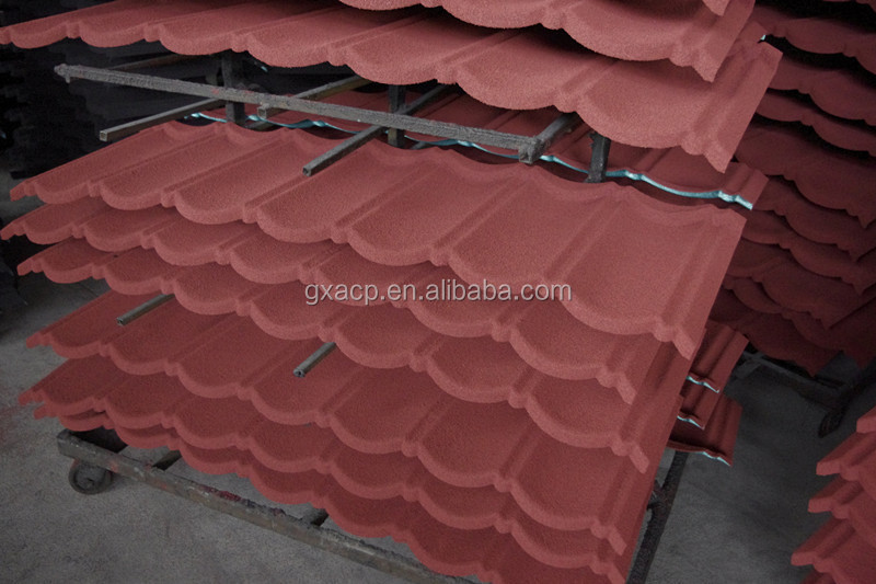 Waterproof Stone Coated Metal Roof Tile/metal roofing sheet/stone coated roofing tile for Nigeria