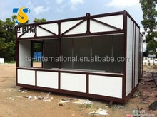 Movable foldable prefabricated container store