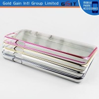 Electroplating frame case for iPhone 6 hard protective case, for iPhone 6 hard pc cover with luxy electroplating bumper