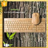 Promotion Universal natural bamboo mini wireless mouse keyboard for computer/ laptop