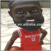 moveable basketball player toy,plastic flexible toy