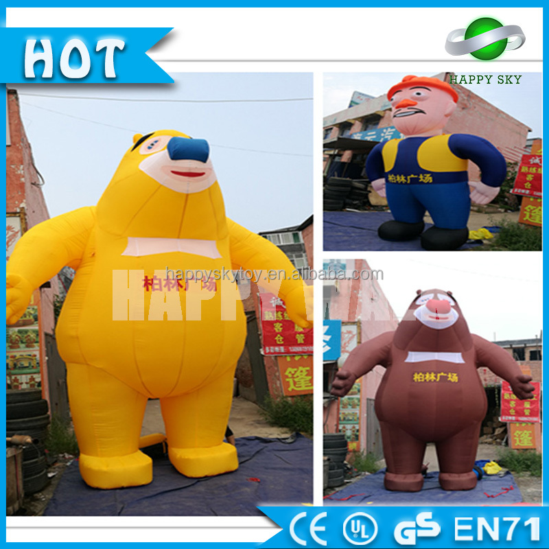 Hot selling advertising Bears inflatable cartoon,movie inflatable Boonic Bears cartoon characters for sale