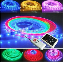 5m WS2811 led digital magic strip 12V 5050 SMD RGB 30pcs 10 IC per meter waterproof IP67 + 253 change Dream color LED controller