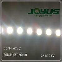 high quality cheap 24v 2835 led strip light for light box 66leds 580mm 6mm width