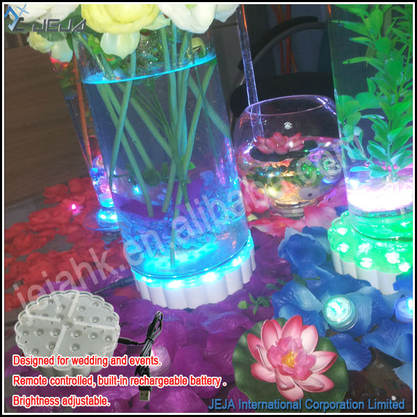 Decoraci n florero de cristal led iluminado alto centros for Decoracion jarrones cristal