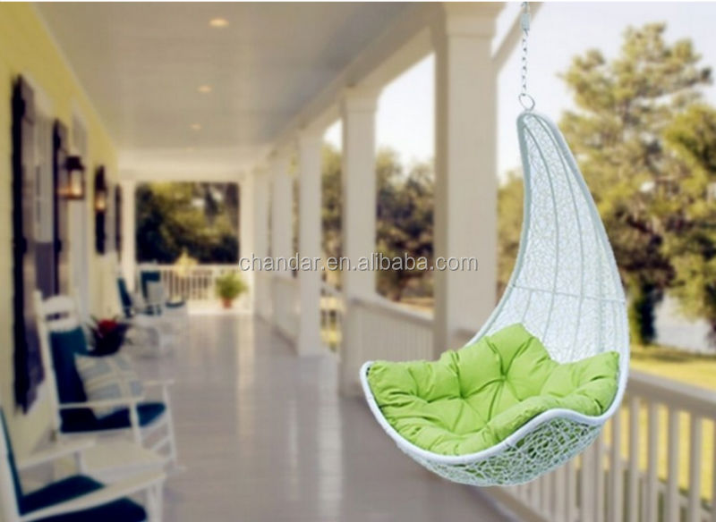 CH-CL067 iron frame <strong>rattan</strong> swing hanging chair, outdoor swing hanging chair