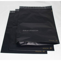 Custom printed black express bag plastic mailing bag courier bag