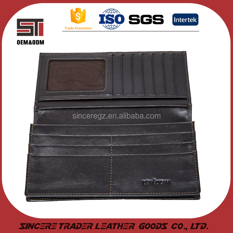 genuine leather <strong>wallet</strong> with many card slots and money pockets