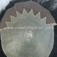 Jagged front shape japanese hair pieces